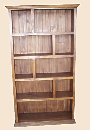 Classic Bookcases with solid timber backs in solid hardwood or pine timber.