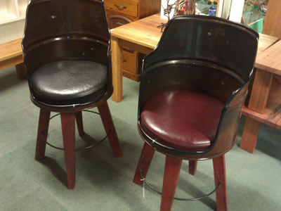 Formal and casual chairs in solid hardwood or pine timber.