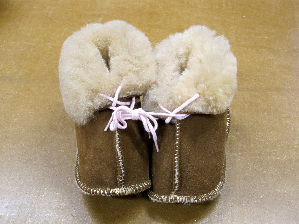 Fluffies - 100% sheepskin Baby Booties - Australian made Sheepskin slippers