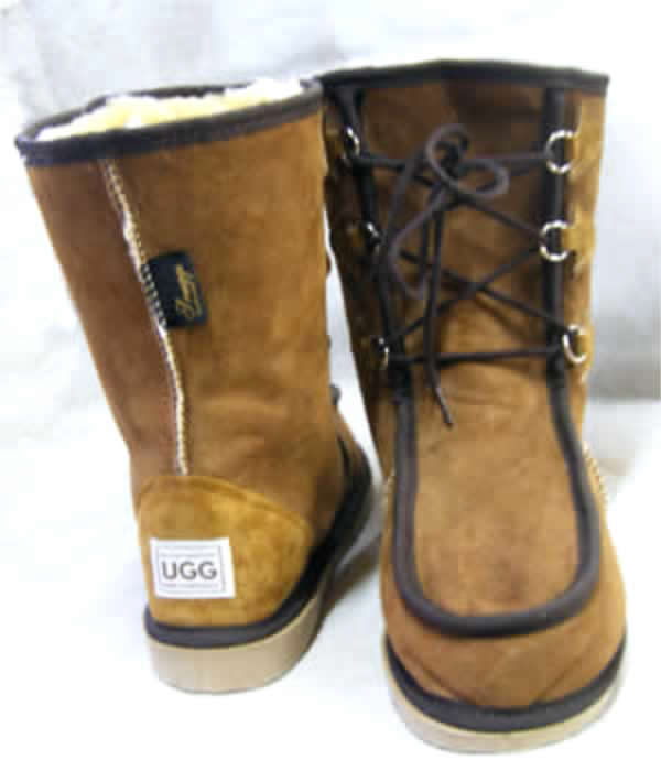 The lace-up Midi Gaucho UGG Boot - Australian made Sheepskin Boot