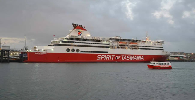This is how you get there! Spirit of Tasmania, at Devonport, Tasmania, Australia