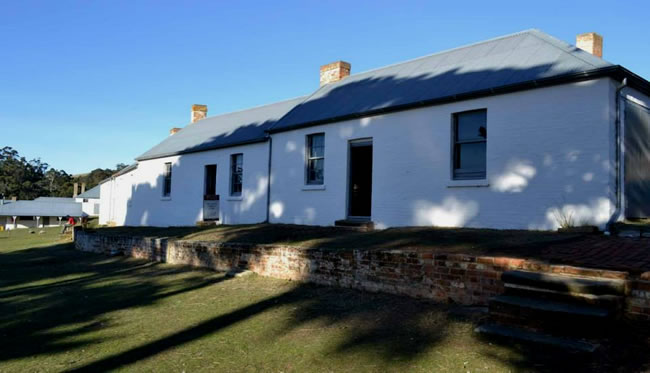 Irish nationalist leader William Smith O'Brien's convict cottage, Maria Island, Tasmania, Australia