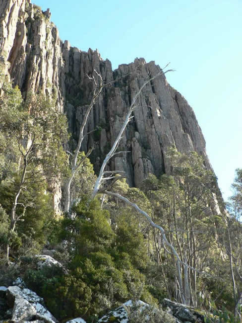 The Organ Pipes, on Mount Wellington, Hobart, Tasmania, Australia