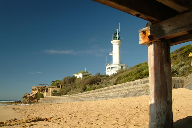 Blue skies, Point Lonsdale lighthouse, Bellarine Peninsula, Victoria, Australia