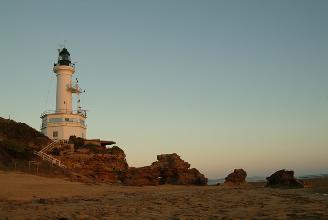 Dusk, Point Lonsdale lighthouse, Bellarine Peninsula, Victoria, Australia
