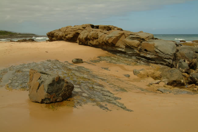 Foreshore, Skene's Creek, near Apollo Bay, Great Ocean Road, Victoria, Australia