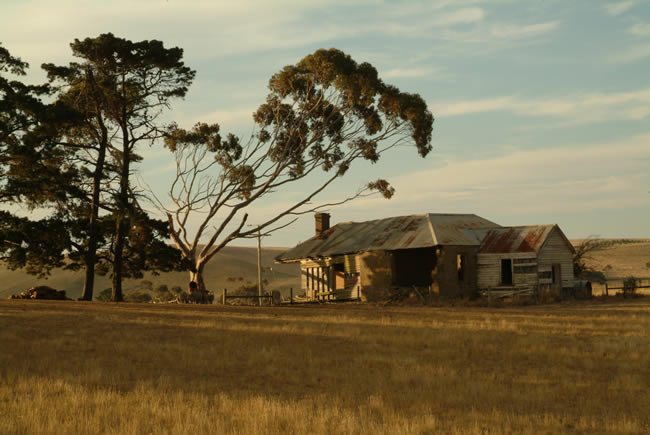 Old farm house, at Ceres, near Geelong, Victoria, Australia