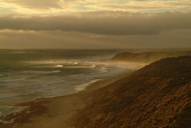 Beautiful picture of Thirteenth Beach, near Barwon Heads, Bellarine Peninsula, Victoria, Australia