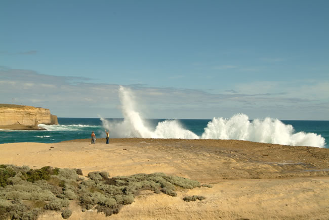 WOW! waves at Sherbrooke Beach, near Port Campbell and the Twelve Apostles, Great Ocean Road, Victoria, Australia