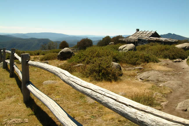 Craig's Hut, Mt Stirling, alpine Victoria, Australia