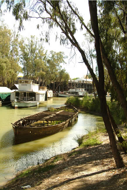 Port of Echuca, Murray River, Victoria, Australia