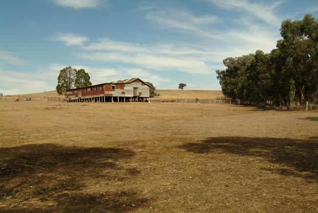 Shearing shed, Redesdale, central Victoria, Australia