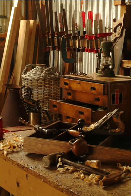 Craftsman's workbench, Geelong, Victoria, Australia