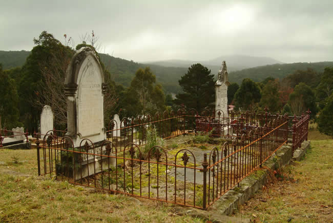 Bleak weather, Blackwood Cemetery, central Victoria, Australia