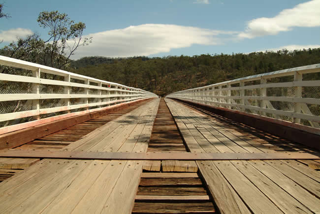 McKillop's Bridge, over the Snowy River, alpine Victoria, Australia