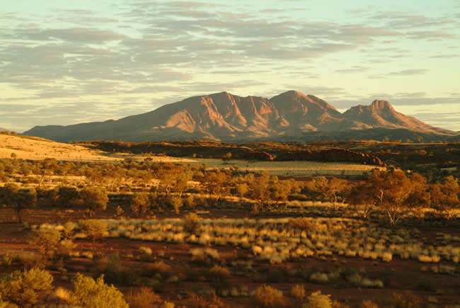 Dawn on Mt Sonder, MacDonnell Ranges, Northern Territory, Australia