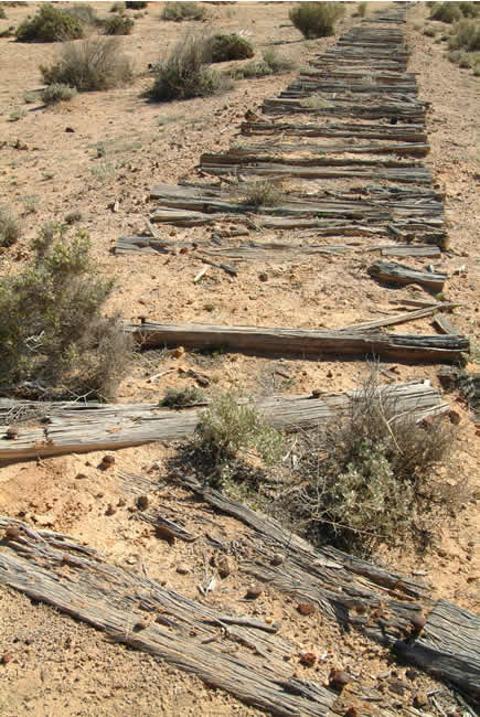 Ruins of a railway, Old Ghan Railway, North Creek, South Australia