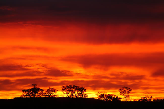 Sunrise, Batton Hill Camp, Simpson Desert, Northern Territory, Australia