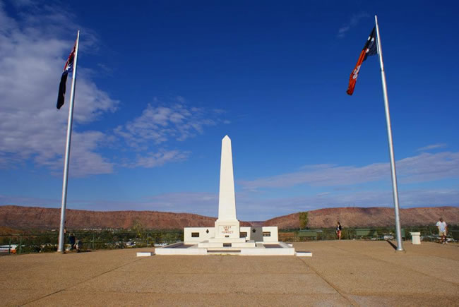 ANZAC memorial, Alice Springs, Northern Territory, Australia