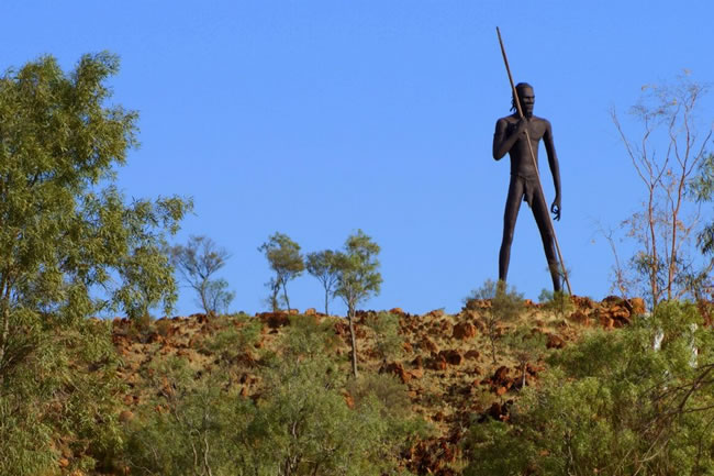 Anmatjere Man, near the Aileron Roadhouse, Northern Territory, Australia