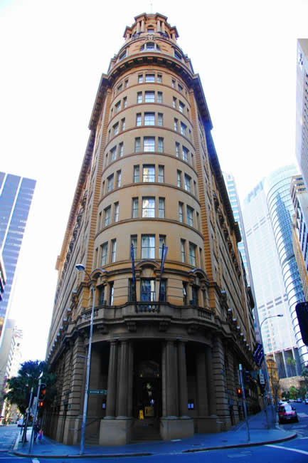 Corner building, CBD, Sydney, New South Wales, Australia