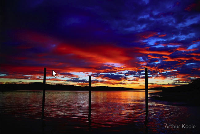 Sunrise at Graham Creek, Gladstone Harbour, Queensland, Australia