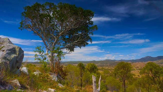 View from the Mt Perry lookout, near the Boolboonda Tunnel, Queensland, Australia