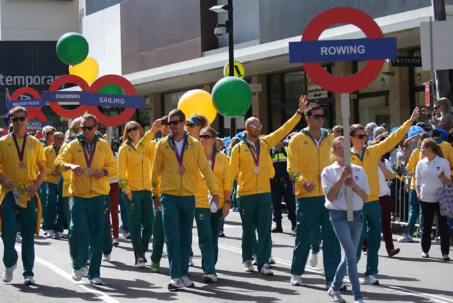 Olympic parade, Sydney, New South Wales, Australia