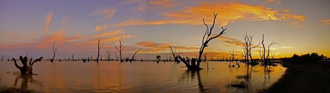 Panorama of Lake Victoria, New South Wales, Australia