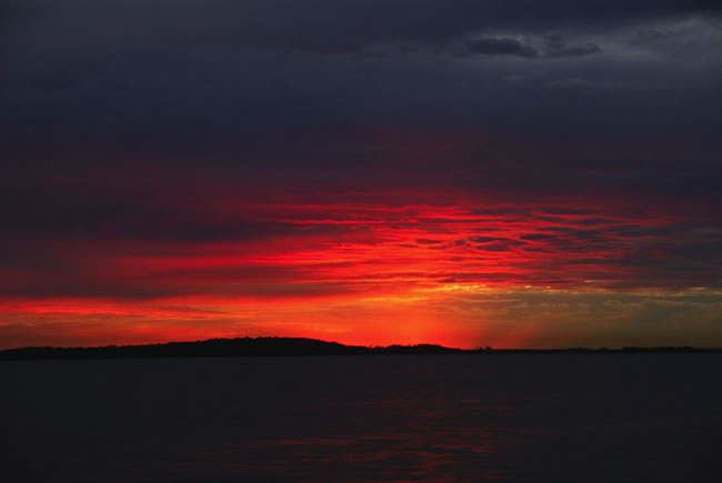 Red sky in the morning... Gladstone Harbour, Queensland, Australia