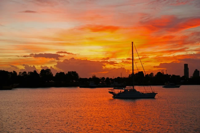 A spectacular dawn, Gladstone Harbour, Queensland, Australia