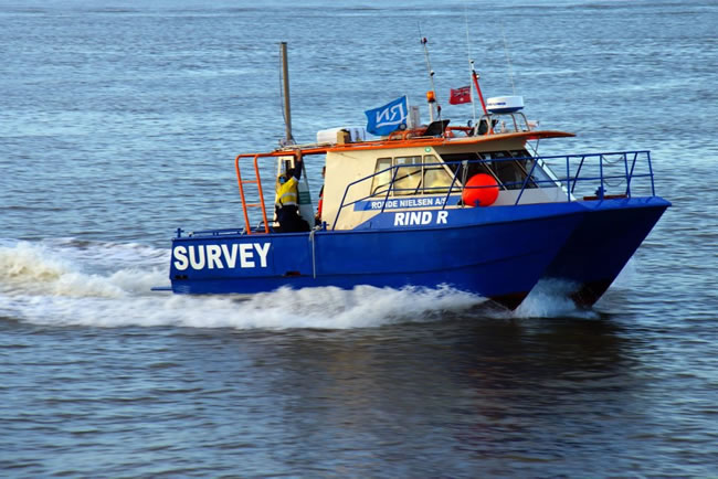 Survey boat 'Rind R' Gladstone Harbour, Queensland, Australia