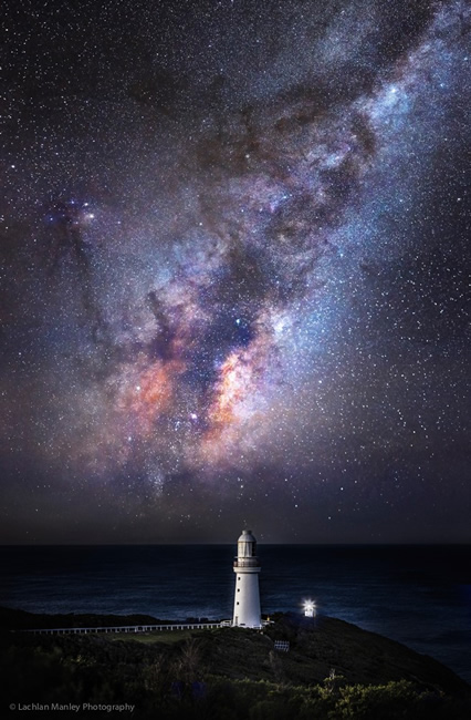 Milky Way Galaxy over Cape Otway Lighthouse, Great Ocean Road, Victoria, Australia