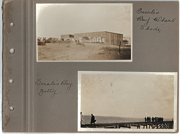 Sceale's Bay Wheat Sheds.; Sceale's Bay Jetty. Parliamentary tour of the Eyre Peninsula, October 9-18, 1926