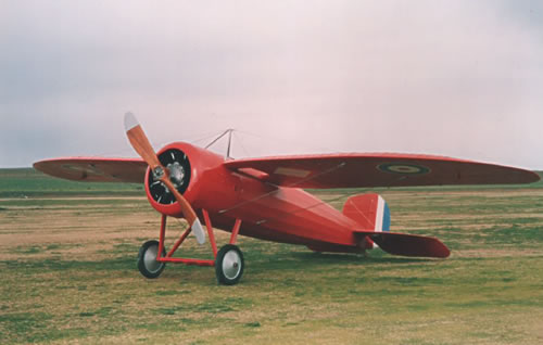 The original, fully restored 'Red Devil' monoplane that Harry Butler used for the first mail flight across the Gulf of St Vincent, South Australia, on 6 August 1919