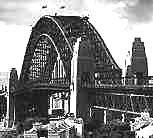 As she was in the 1930s - the Sydney Harbour Bridge, Sydney Australia. Construction of the Sydney Harbour Bridge was an engineering achievement in the depression years of the 1930s