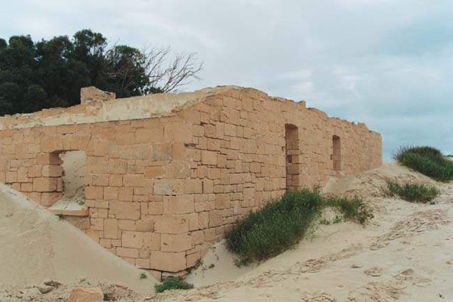 The ruins of the old Telegraph Station in 2004, at Eucla, Western Australia