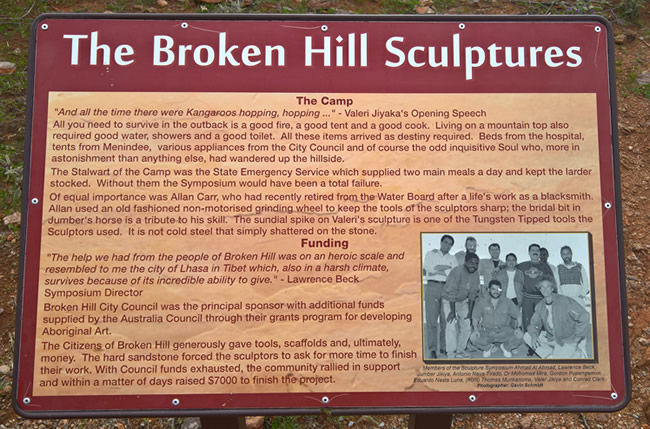 The Broken Hill Sculptures, Living Desert, Broken Hill, New South Wales Australia
