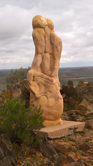 Moon Goddess Sculpture, Broken Hill Sculptures, Living Desert, Broken Hill, New South Wales, Australia
