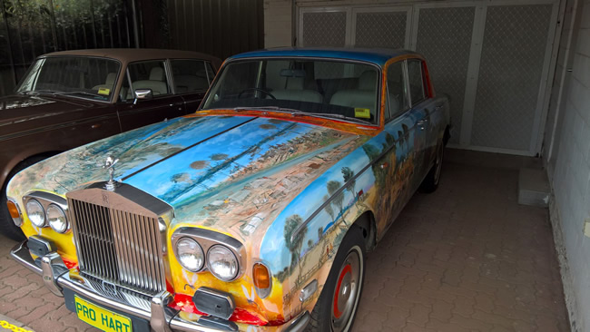 Pro Hart's painted Rolls Royce, Broken Hill, New South Wales Australia