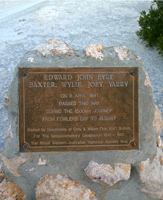 Eyre Bird Observatory - Memorial to Edward John Eyre and his companions, Eyre, Western Australia