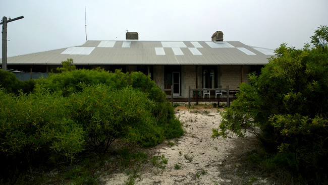Eyre Bird Observatory - The restored limestone Telegraph Station building, Eyre, Western Australia