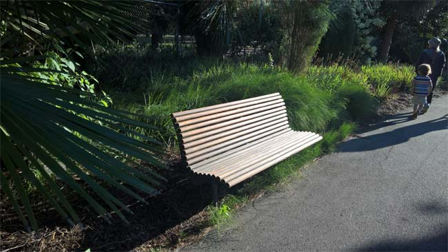 Seat in the Geelong Botanic Gardens, Victoria, Australia