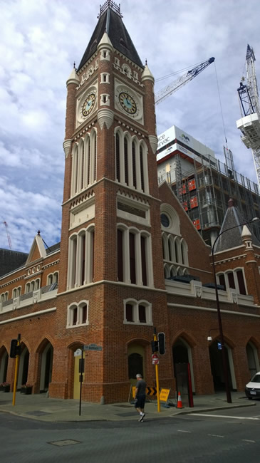 The town hall clock tower, Perth, Western Australia