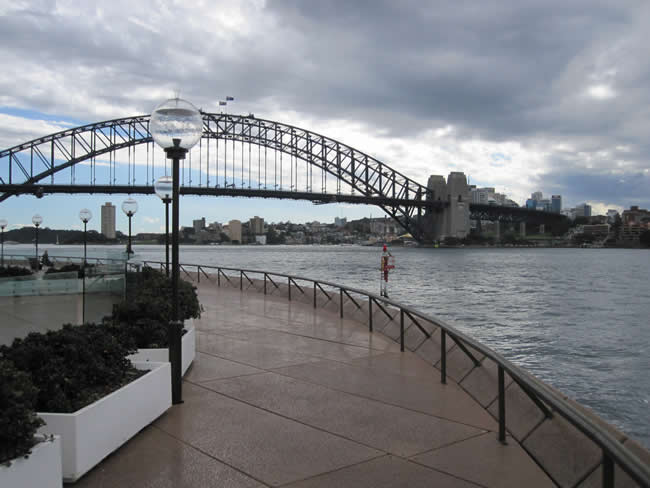 A familiar sight to Sydneysiders. Sydney and the Harbour Bridge, New South Wales, Australia.