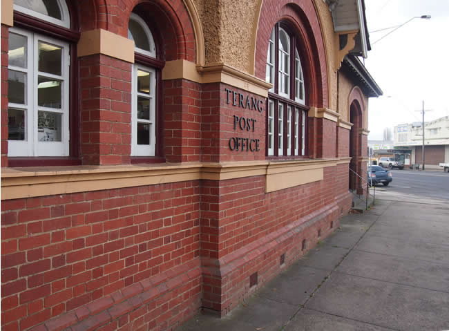 Historic Post Office, in the main street of Terang, western Victoria, Australia