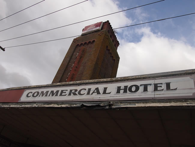 The Commercial hotel in the main street of Terang, western Victoria, Australia