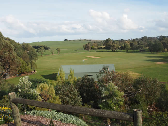 The oval and golf club in Terang, western Victoria, Australia