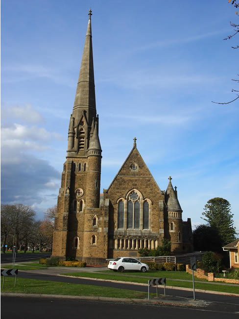 The Thomson Memorial Presbyterian Church in Terang, western Victoria, Australia