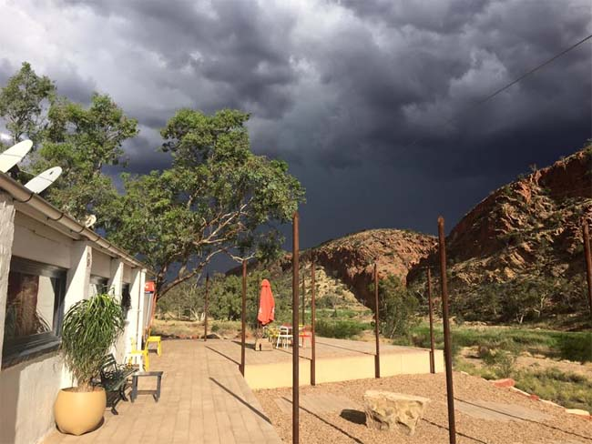 Storm coming, Glen Helen Homestead, West MacDonnell National Park, Northern Territory, Australia